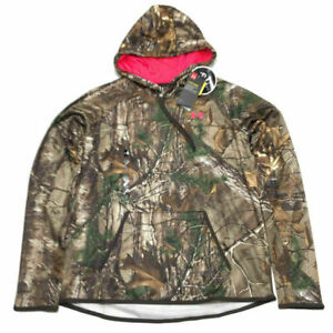 Under Armour Hunting Hoodie Sweatshirt M Camo Pink Storm Realtree Womens NWT $75 $54.99