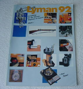 LYMAN 1992 GUN SCOPE RELOADING TOOLS SHOOTING SUPPLIES CATALOG