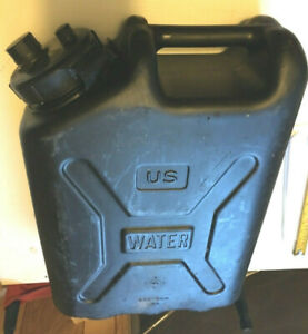 Black Plastic Water Jerry Can Water U.S. Military Used Bronson Scepter Style