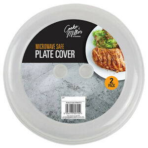 2 x Microwave Plate Ventilated Lid Cover Food Dish Vent Splatter Kitchen Cooking