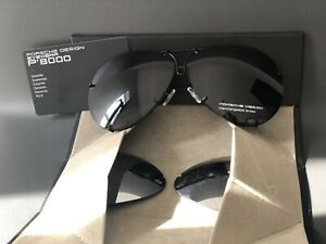 New Porsche Design P8478 69 MM Sunglasses Titanium Black Men Women