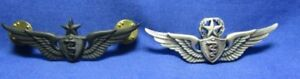 Vietnam War Sterling USAF Command & Senior Flight Surgeon Wings Badges