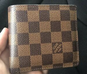 Louis Vuitton Men's Wallet Damier Multiple Bifold Coin Brown Checkered Leather