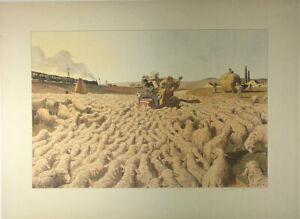 EARLY AUTOMOBILIA 1905 SIGNEDNUMBERED by G.MEUNIER ORIGINAL STONE LITHOGRAPH