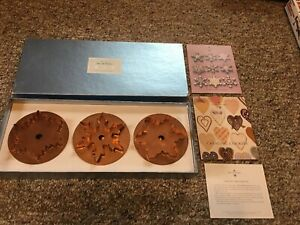 Set Of 3 Martha By Mail Snowflake Cookie Cutter Copper In Box