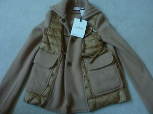$1365 MONCLER Ladies Brown 'Maglione Tricot' Knitted Sweater Jacket Sz. S NEW