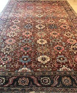 HERIZ RUG AN AWESOME ANTIQUE PERSIAN HERIZ ALL OVER DESIGN RUG