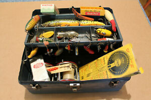 Vintage Fishing Lures Penn Reels South Bend Heddon Outer Climax Tackle Box