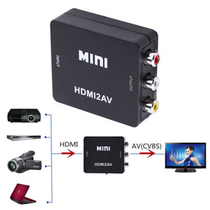 1080P HDMI 2AV HDMI to RCA Video Audio AV CVBS Adapter Converter PS3 Xbox DVD US
