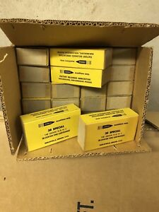 JURRAS Munitions Corp 20 Ammo Boxes Carton 38 Special Vintage Display SHIPS FREE