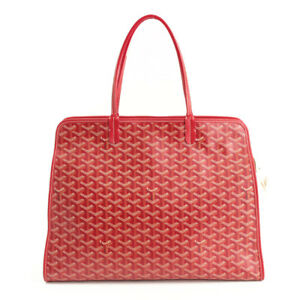 GOYARD Ardy PM Hand Tote Bag & Pouch Red 2014 Paris Ld Woman Auth Mint Rare