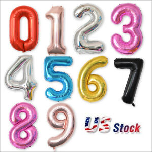 40quot;Numbers 16quot;Air Filled quot;HAPPY BIRTHDAYquot; Party Letter Foil Balloon Banners