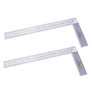2Pc L Square Stainless Steel 90 Deg Angle Ruler Measurement Tool Woodworking $11.74