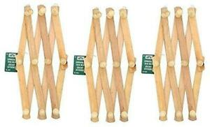 Lot Of 3 Home Aide Expandable Hook Wood Wall Peg Rack Wooden Expanding Accor