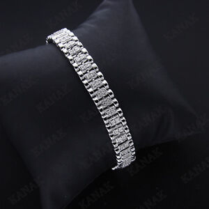 Natural Diamond Solid 14k White Gold Beautiful Men's 7