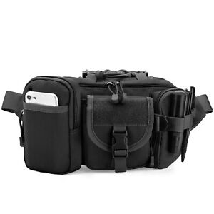 Men Tactical Waist Fanny Pack Military Camping Hiking Travel Cycling Belt Bag