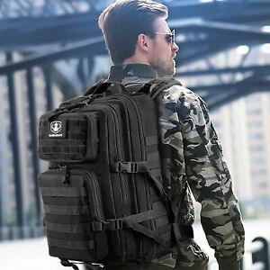35L Tactical Backpack Army Military Rucksacks Camping Hiking Assault Hunting Bag