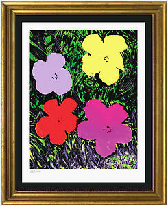 Andy Warhol Signed amp; Hand Numbered Ltd Ed quot;Flowersquot; Lithograph Print unframed $99.99