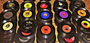 YOU SELECT 25 Disc Lot Variety 45 rpm Vinyl Records JukeBox 45's GENRE