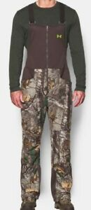 UNDER ARMOUR Stealth Fleece Bib Hunting Camo Pants Size SMALL 1291442-946 *$169*