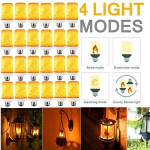E27 26 LED Flicker Flame Light Bulb Simulated Burning Fire Effect Festival Party