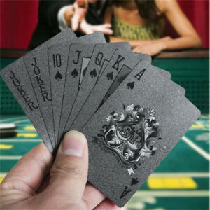 New Black Matte Plastic Poker Cards PET Waterproof Playing Cards Creative