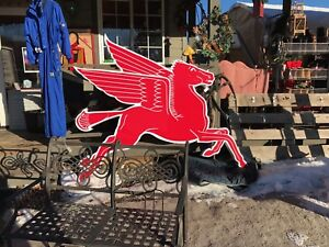MOBIL ONE OIL PEGASUS SIGN Gas Station Sign COOKIE CUTTER FRAME Petrofina Oil