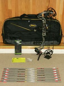 Loaded Used Mathews Triax Bow Package- Under Armour Forest- Most DL 50-60 lb
