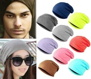 AKIZON Beanie Hat Skull Cap Baggy Thin Soft Slouchy Solid Color For Men Women