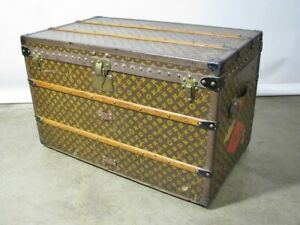 Vintage Late 1920's Louis Vuitton Steamer Trunk With Original Trays