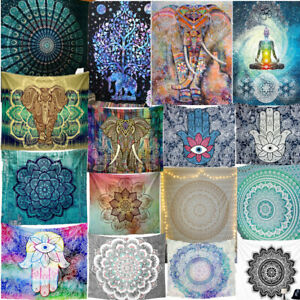 75 Tapestry Hippie Bedspread Wall Hanging Beach Towel Indian Yoga Mat Decor Twin