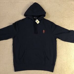 NEW POLO Ralph Lauren Polo Bear Hoodie Navy Pullover Exclusive NWT Mens Sz XL
