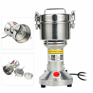 700g Grain Mill Grinder Powder Machine Spice Herb Pepper Coffee 70-300 Mesh SS