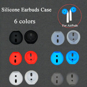 Silicone Earbuds Cover Ear pads Case Earplug Protector For Apple AirPods!#