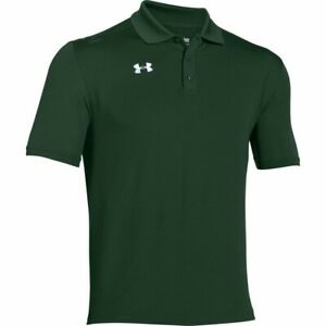 Under Mens Armour Forest Green Team Armour Polo 1287622 301 Size XL $49.79