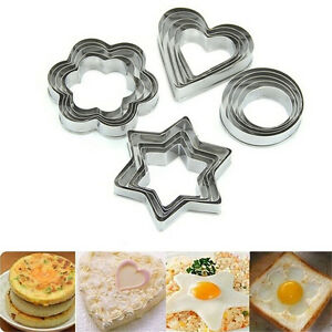 20pcs Stainless Star Heart Flower Round Cookie Cake Fruit Cutter Biscuit Mold GX