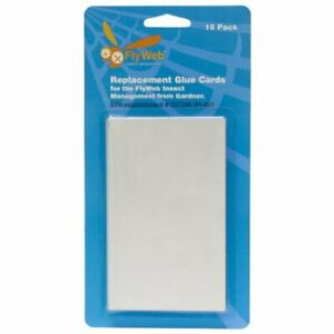 Replacement White Glue Cards for Use w/ Fly Light Insect Trap (20-Pack)