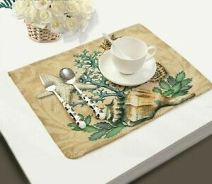 Home Tablecloth Coasters Set Dining Table Placemats Durable Pads Heat Insulated