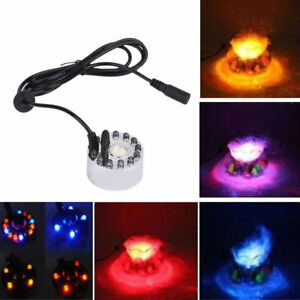 Ultrasonic Mist Maker Outdoor Fogger Fountain Pond Atomizer Humidifier 12 LED