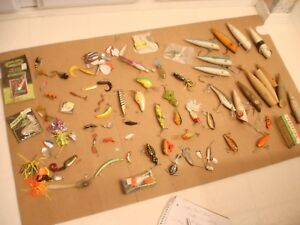 LARGE Vintage Fishing Plugs AND LURES-COLLECTION-JITTER BUG-POE`S-MEPPS-ECT ASIS
