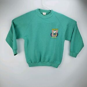 Vintage 1958 Snoopy University Pullover Sweatshirt Teal Size XL