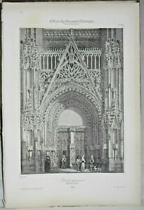 Lithography Portal Northern Cathedral of Evreux
