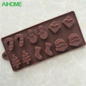 Silicone Cake Mold Christmas Tree Wand Sock Snowman DIY Baking Mould