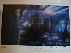 Mass Effect Pragia Lithograph signed numbered 47500 litho ME limited