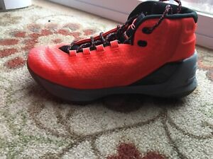 Under Armour Steph Curry 3 Men's Orange and Black Basketball Shoes 7Y