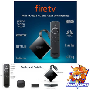 Amazon TV Fire Stick 4K Ultra HD with Alexa Voice Remote (3rd Gen) BRAND NEW!