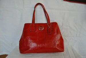 COACH RED PATENT LEATHER PURSE