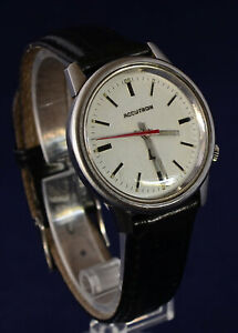 VINTAGE RETRO c.1972 ACCUTRON  by BULOVA WATCH TUNING FORK MOVEMENT Model 218