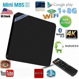 Mini M8S II TV Box 1 + 8GB Set-top Box Amlogic S905X Android 6.0 Quad Core US EK