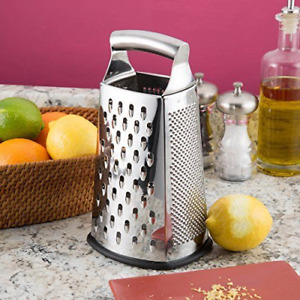 Sale Box Grater, 4-Sided Stainless Steel Large 10-inch by Spring Chef.